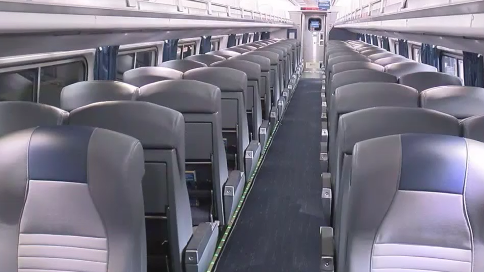 amtrak spends nearly 16 million to redesign northeast regional rail cars wjla. Black Bedroom Furniture Sets. Home Design Ideas