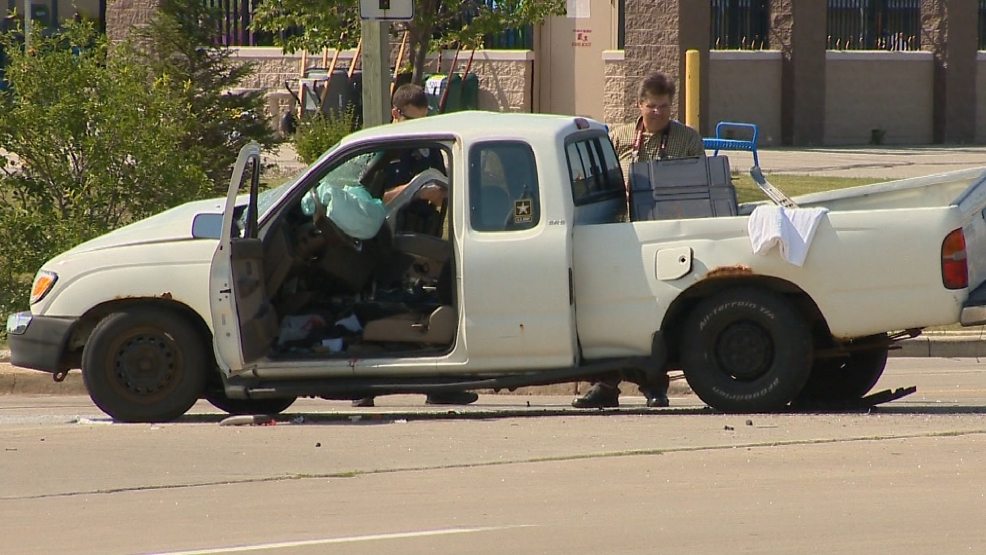 Fatal crash on Main street and Pecan street in Green Bay. August 5, 2014.  (WLUK)
