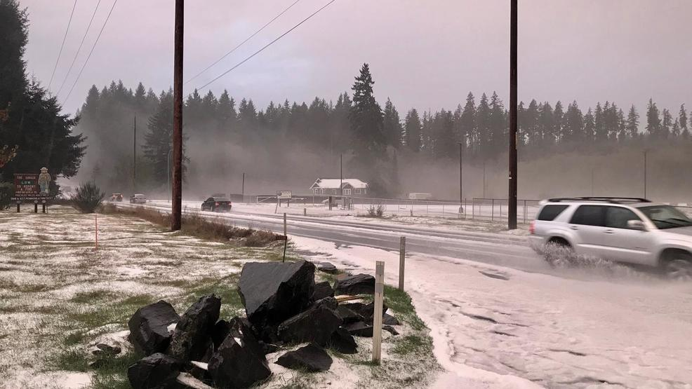 Hail storm blankets South Sound in a slushy coat of white
