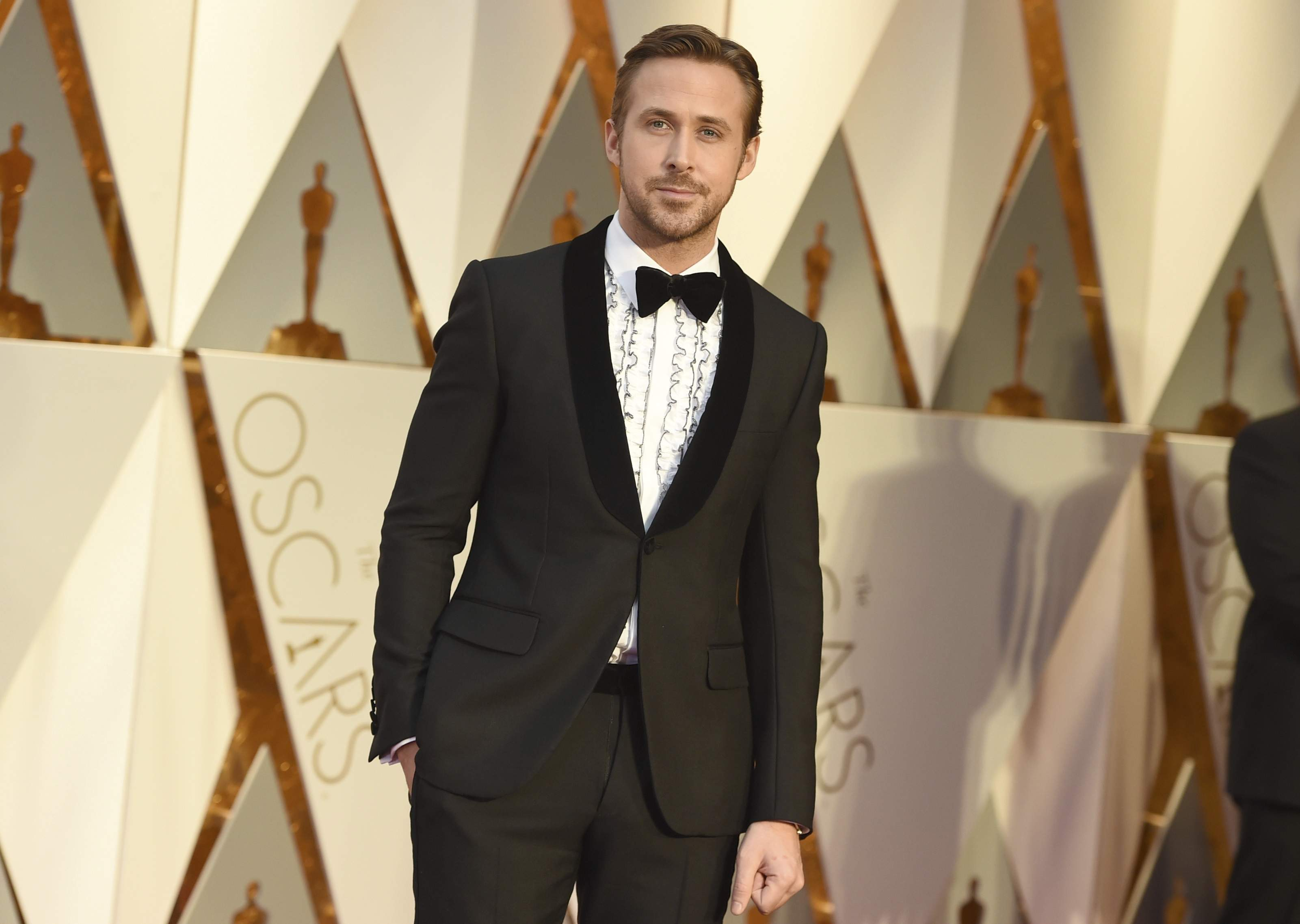 Ryan Gosling arrives at the Oscars on Sunday, Feb. 26, 2017, at the Dolby Theatre in Los Angeles. THE ASSOCIATED PRESS