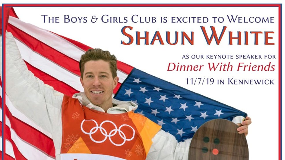 Shaun White will be the Keynote speaker at this years Dinner with Friends
