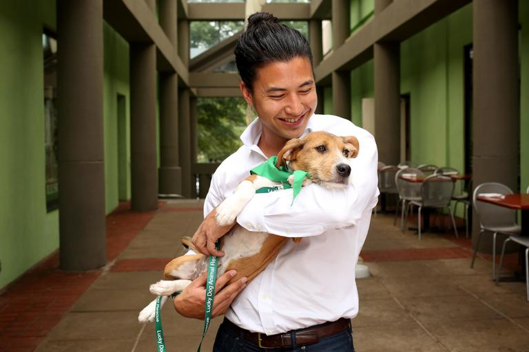 Robert is a 30-year-old Culpeper native living in Arlington. He is the co-founder & CEO of Commonwealth Joe. Robert enjoys snowboarding, soccer, sailing, and cycling.// Caroline is a 3-month-old terrier mix. She needs to go to a home with another dog friend. Caroline is up for adoption at Lucky Dog Animal Rescue.(Amanda Andrade-Rhoades/DC Refined)