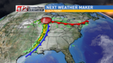 Front moves in Tuesday, brings chances of rain