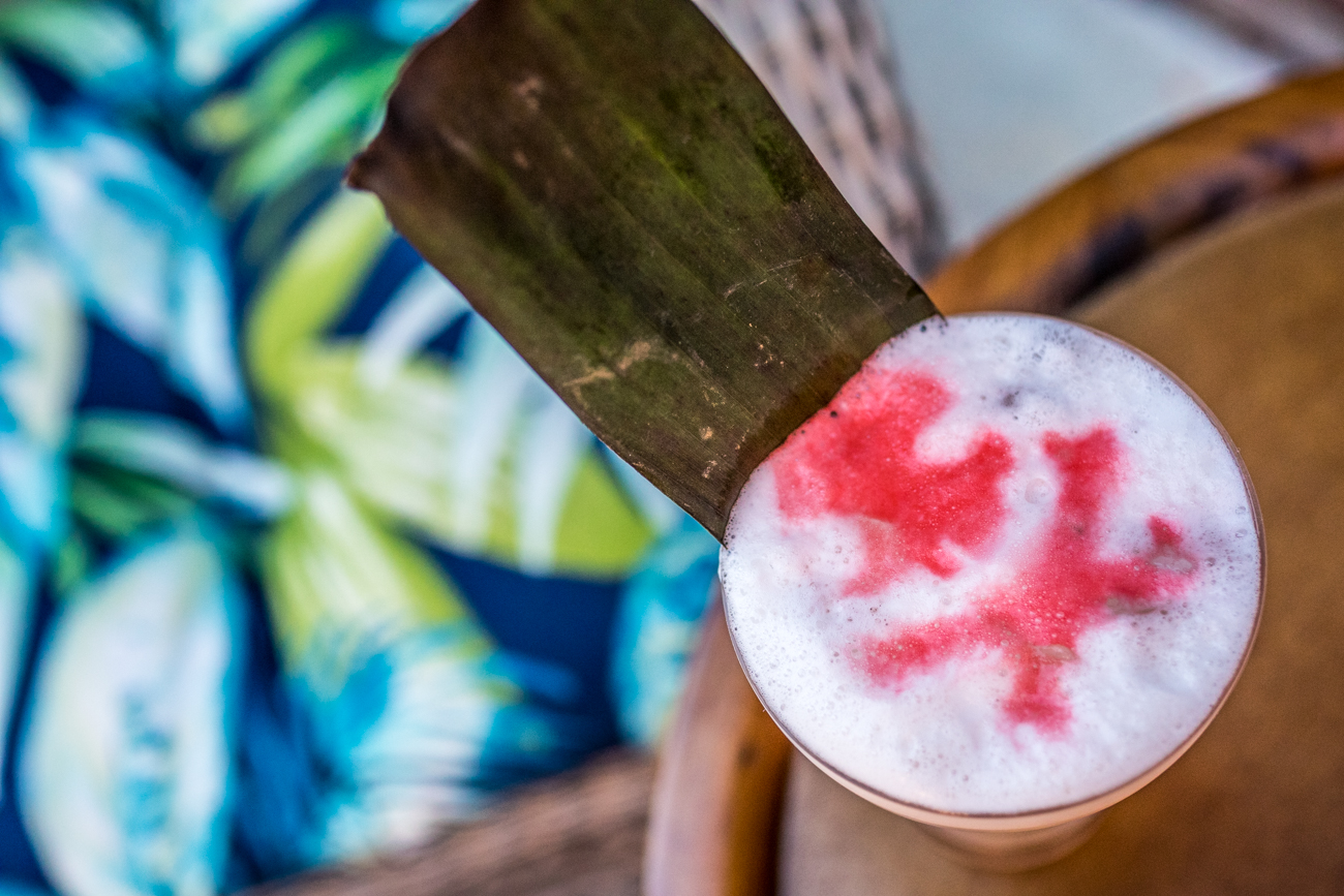 Deathproof: gin, light rum, Falernum, don's mix, grapefruit, egg white, and Peychaud's bitters / Image: Catherine Viox // Published: 7.30.20