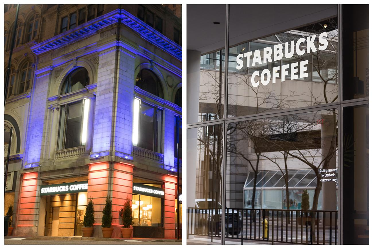 4th Street has TWO Starbucks Coffee shops / ADDRESSES: 201 E 4th Street (inside Atrium Building) & 401 Vine Street (corner of 4th and Vine Streets) / Images: Phil Armstrong, Cincinnati Refined // Published: 4.23.18