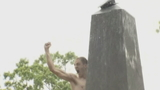 Plebes climb greased Herndon Monument, rite of passage to become midshipmen