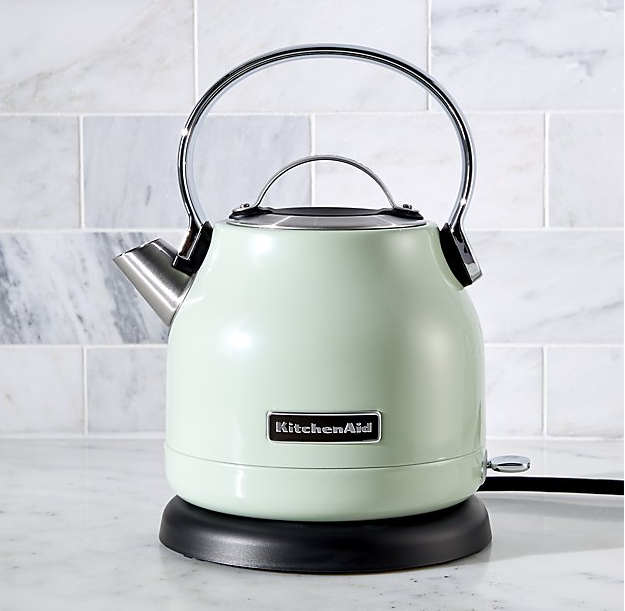 KitchenAid ® Pistachio Electric Kettle ($79.99). Find on crateandbarrel.com. (Image: Crate & Barrel)