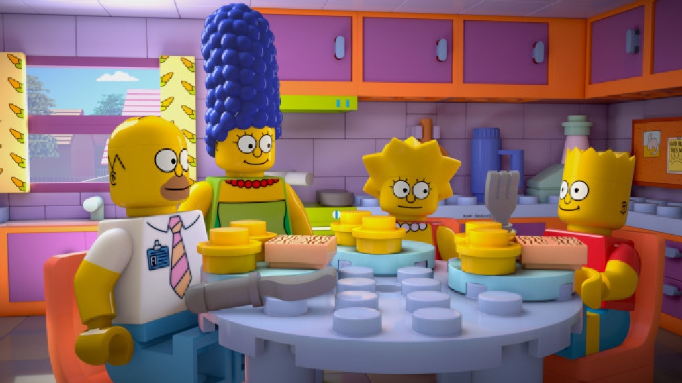 "THE SIMPSONS: Homer wakes up in a world where his family and everyone in Springfield are made of Legos in the milestone 550th ""Brick Like Me"" episode of THE SIMPSONS airing Sunday, May 4 (8:00-8:30 PM ET/PT) on FOX. THE SIMPSONS ™ and © 2014 TCFFC ALL RIGHTS RESERVED. LEGO, the LEGO logo, the brick and knob configuration and the MiniFigure are trademarks and/or copyrights of the LEGO Group. All Rights Reserved. © 2014 FOX BROADCASTING"