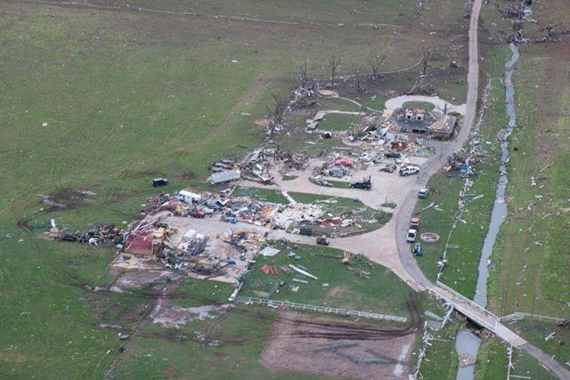 Little was left of the homes after the tornado exited Moore.
