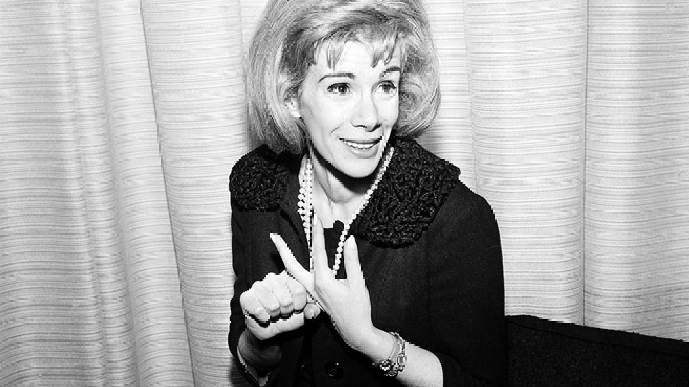 This April 12, 1965 file photo shows comedienne Joan Rivers in Los Angeles. (AP Photo/Dan Grossi, File)