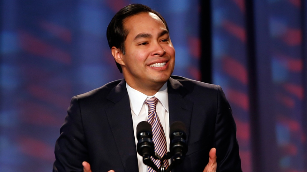 FILE - In this Jan. 23, 2014, file photo, San Antonio Mayor Julian Castro speaks about President Barack Obama's signature health care law at the Families USA's 19th Annual Health Action Conference in Washington. (AP Photo/Charles Dharapak, File)