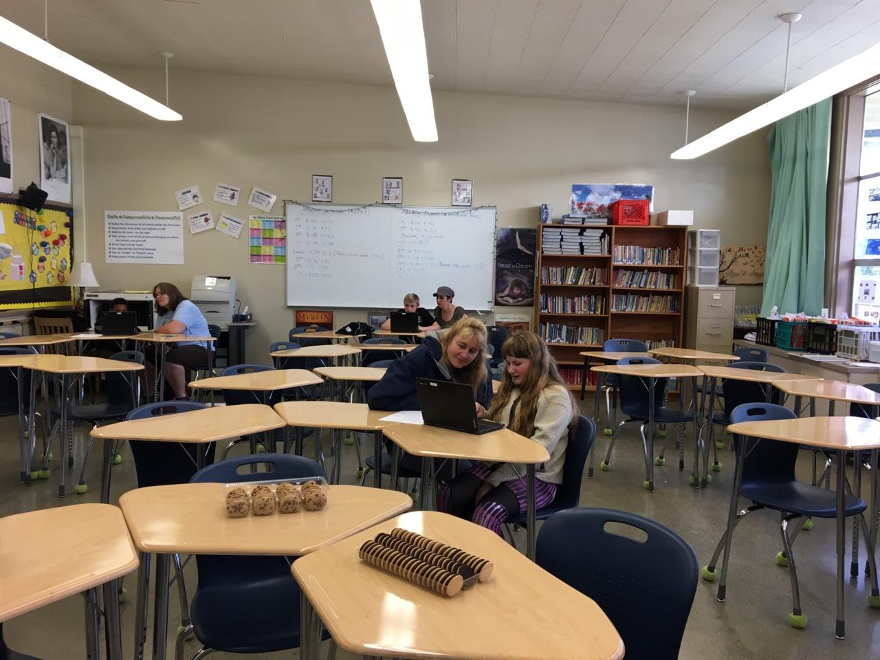 North Bend Middle School is trying to use Google technology to show off student work during for teacher parent conferences. (SBG photo)