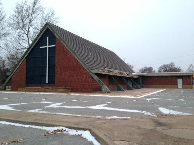 The stolen bell was purchased from this church in Enid.