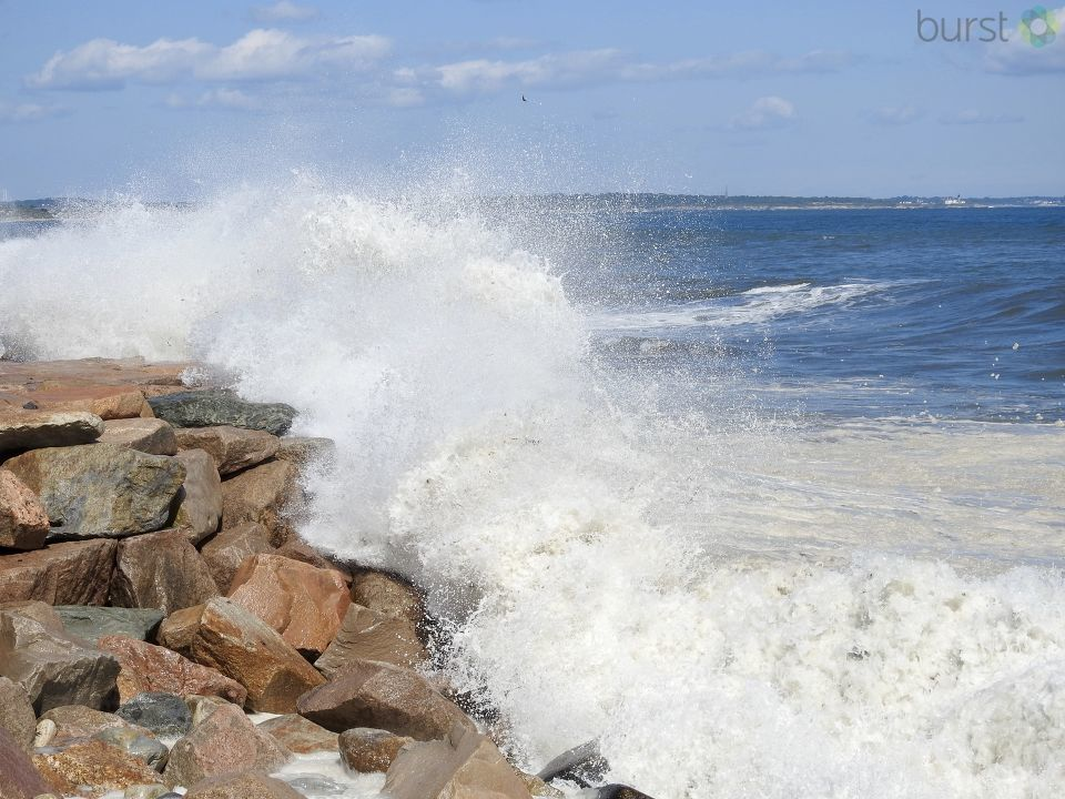This viewer photo shows the intensity of the waves at Narragansett Town Beach. (Photo courtesy of Joe Healey)