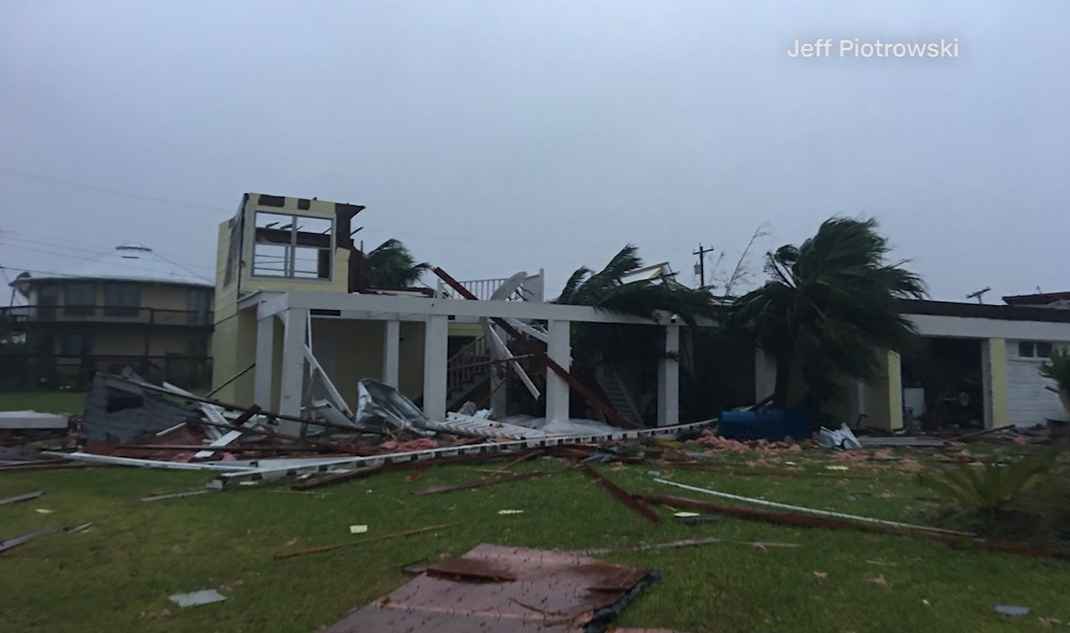 Severe damage in Rockport (Jeff Piotrowski / CNN)