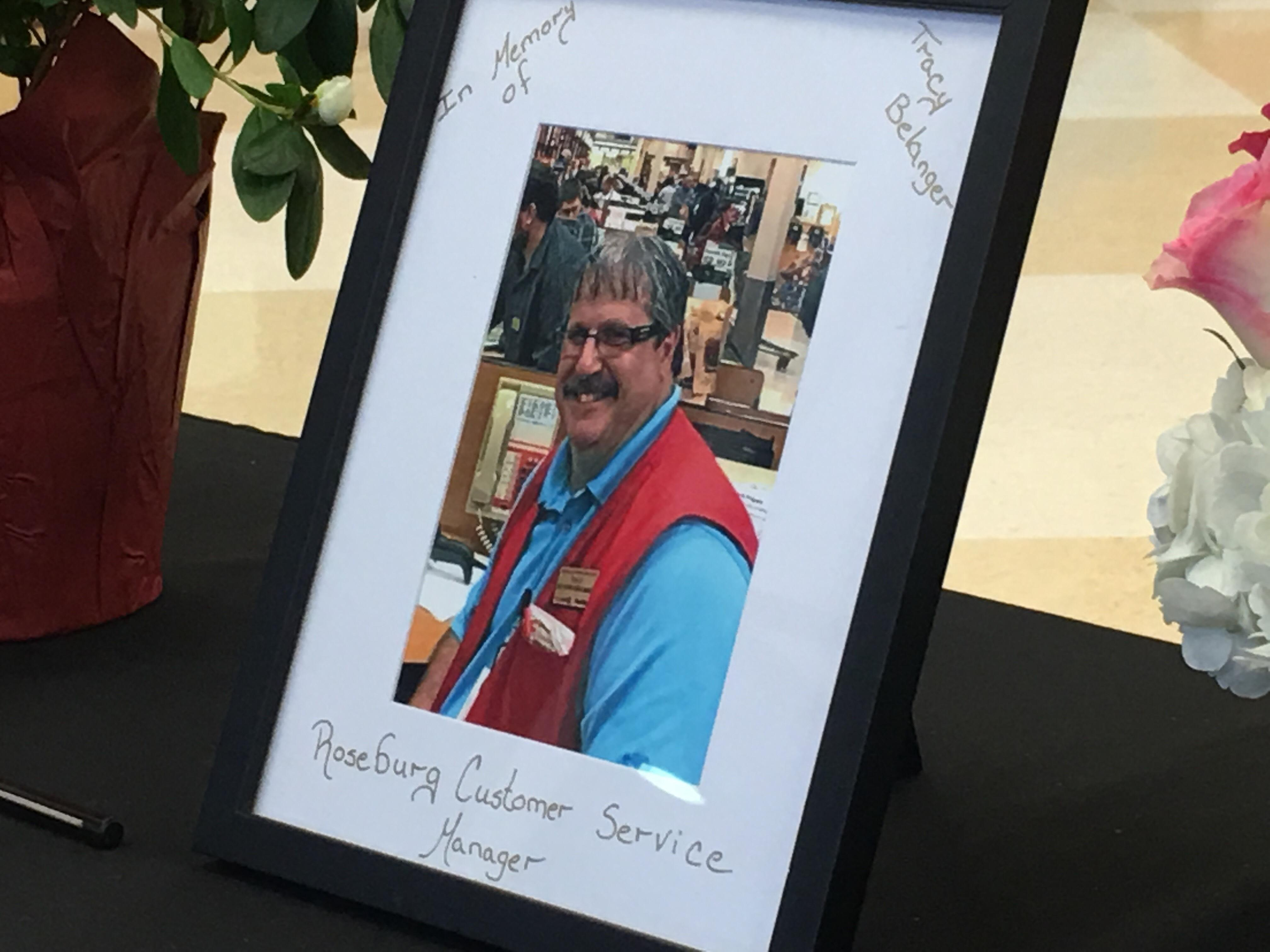 The Roseburg community is mourning the passing of a local store manager who will be remembered as a hero.
