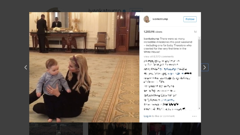 article ivanka trumps take first crawl white house