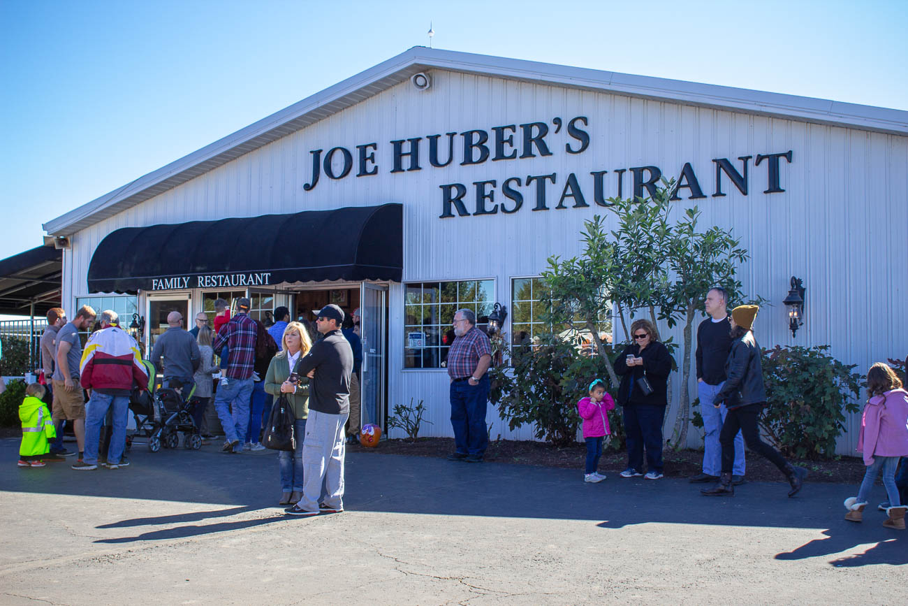 The Country-style cuisine whipped up at Joe Huber's Restaurant is very similar to the fare that Mary Huber (wife of fourth generation Joe Huber, Sr.) prepared to people working on her farm back in the 20s and 30s. If the restaurant is too packed, you can get the same Southern-cooking at their buffets. That's right—TWO buffet barns are open in the fall to feed hungry pumpkin-pickers. / Image: Katie Robinson, Cincinnati Refined // Published: 10.25.18