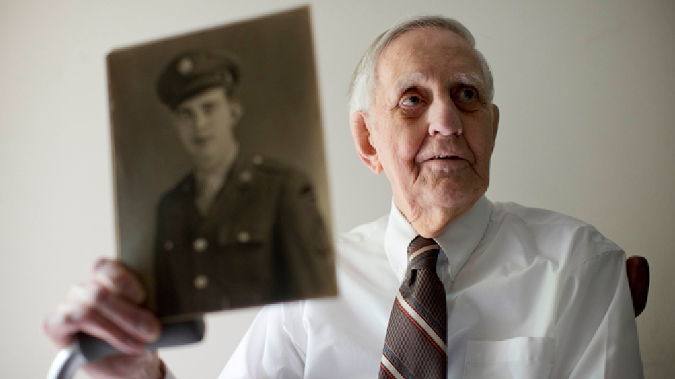 "In this May 27, 2014 photo, World War II veteran Richard ""Bert"" King, 89, poses for a portrait at his home in Ambler, Pa. King took part in the D-Day invasion on June 6, 1944. When he was reminded about the upcoming 70th anniversary of D-Day, he quipped, ""Geez, I'm getting old."" (AP Photo/Matt Rourke)"