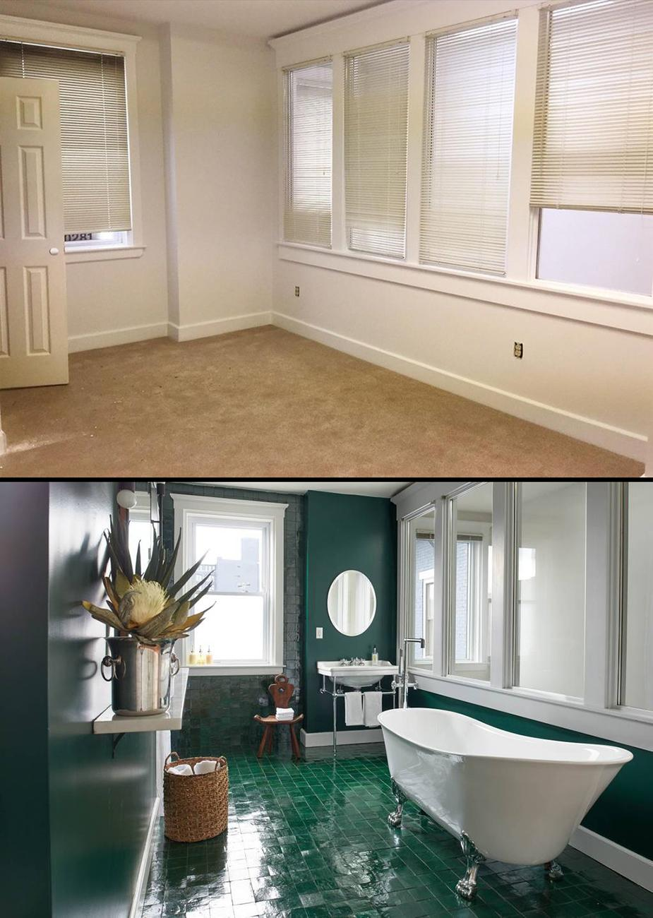 Before the renovation vs. after / Top image courtesy of the Carriage House, bottom image by{ }Brian Rineair // Published: 10.30.19