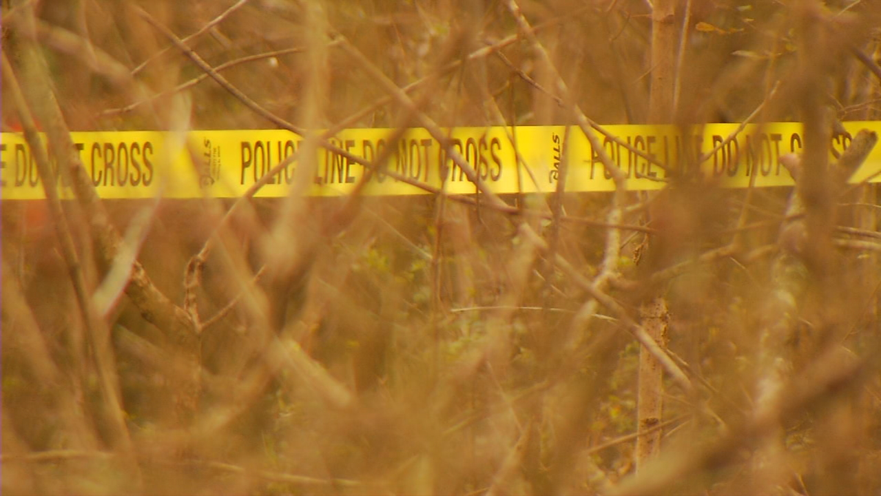 Authorities are investigating what appear to be human skeletal remains found Monday in Hendersonville. (Photo credit: WLOS staff)
