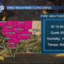 Fire weather warning Wednesday