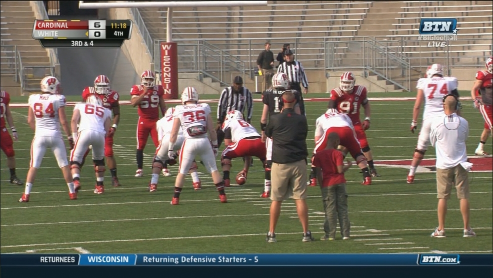 The Wisconsin Badgers take part in their annual spring football game.