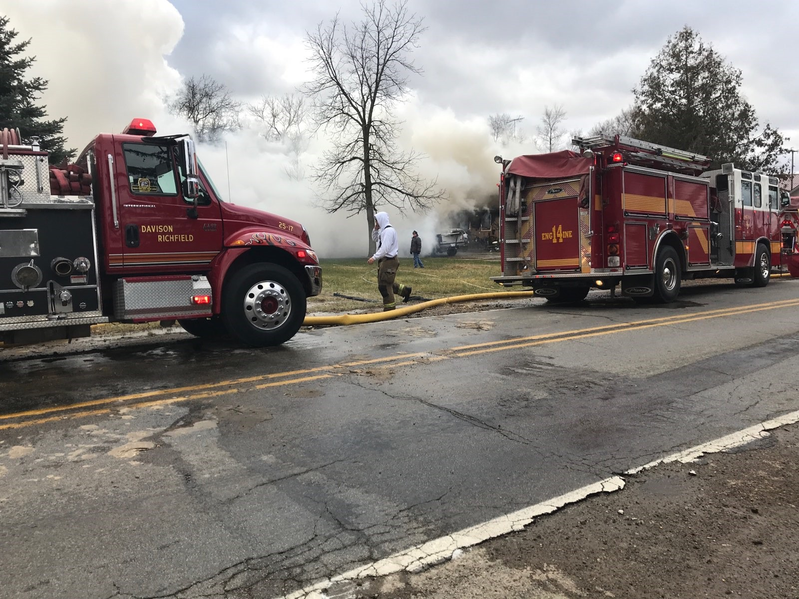 Family members say a man is dead following a house fire. (Photo Credit: Andrew Fergerson){ }