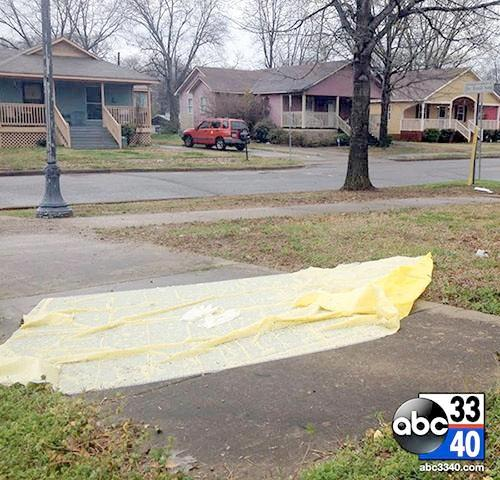 The scene of a fatal stabbing, Sunday, March 23, 2014, that left an Ensley man dead.