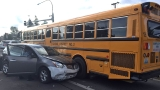 Puyallup police: Armed robbery suspect crashes into school bus