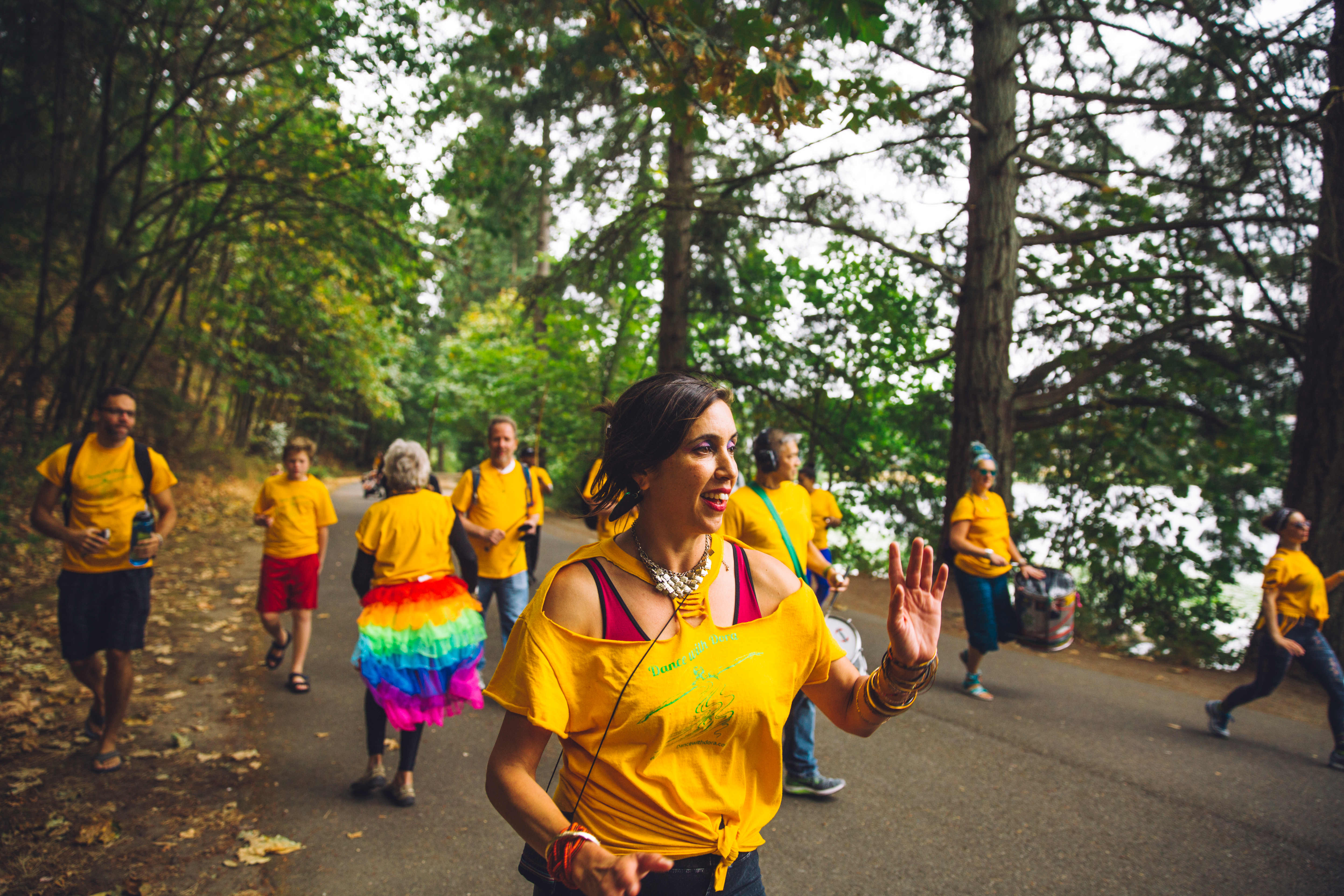 Every year, Dora Oliveira and Dance Brazil (along with an amazing percussion section), samba around the Seward Park Loop Trail! No experience was required for participants, and a quick lesson was even given at the beginning of the loop for total newbies. After working up an appetite, SAMBAthoners celebrated afterwards with more music, dancing, capoeira and traditional Brazilian food. (Image: Ryan McBoyle / Seattle Refined)