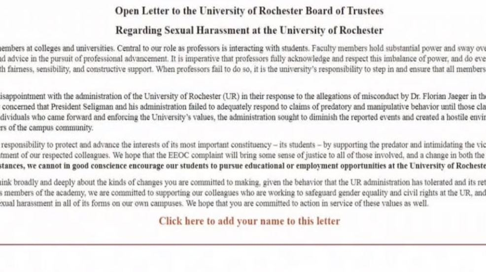 Open letter signed by hundreds around the world targets u of r open letter signed by hundreds around the world targets u of r spiritdancerdesigns Choice Image