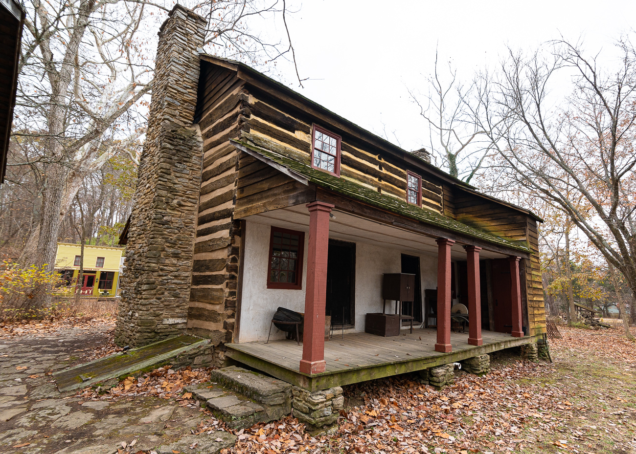 Along with the Betts House in the West End, the Kemper Log House is one of the oldest still-standing structures, though it doesn't sit in the same location it was originally built.{ }/ Image: Phil Armstrong, Cincinnati Refined // Published: 12.5.19