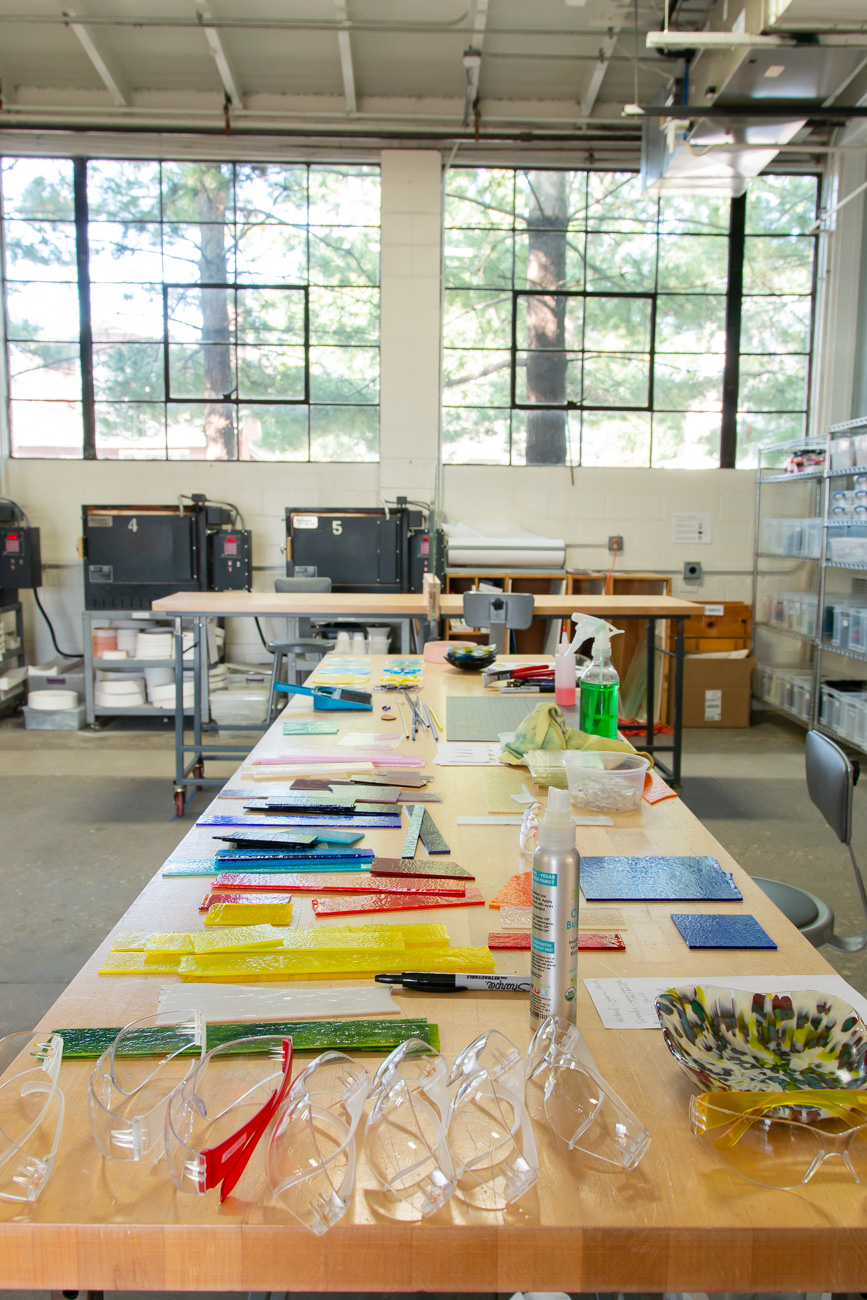 "<p>The teaching space has been adjusted to be as safe and clean as possible. They have an open, light-filled studio where students can spread out to take a range of classes that are offered each week at all skill levels. Glass studio opportunities are currently available by appointment. Class schedules change often, so visit their{&nbsp;}<a  href=""https://www.brazeestreetstudios.com/"" target=""_blank"" title=""https://www.brazeestreetstudios.com/"">website{&nbsp;}</a>for dates and times. / Image: Elizabeth A. Lowry // Published: 10.10.20</p>"
