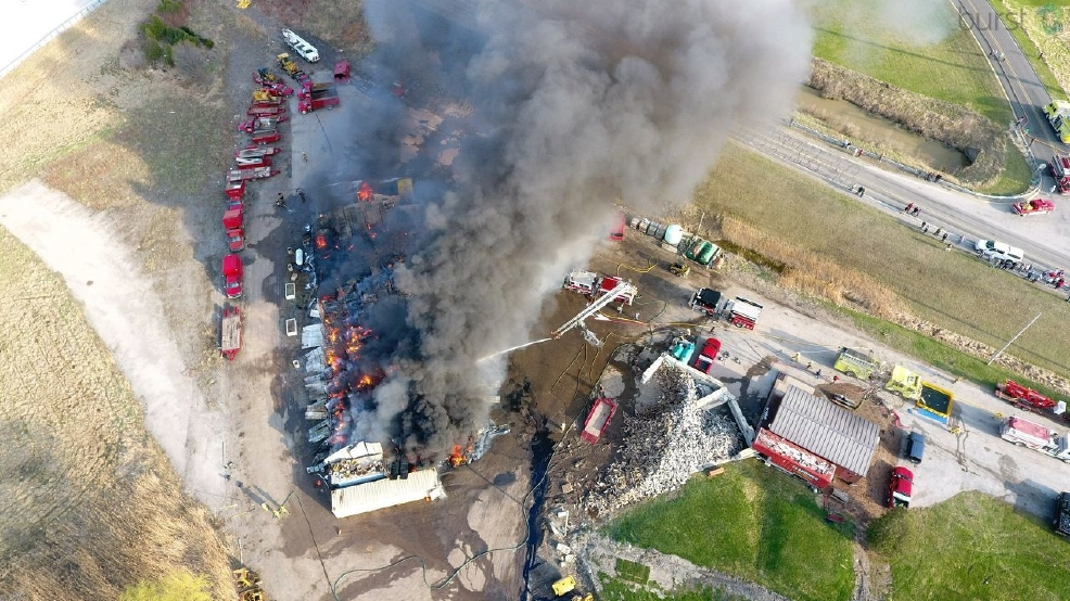 50 firefighters from 7 departments battle Zilwaukee Township fire