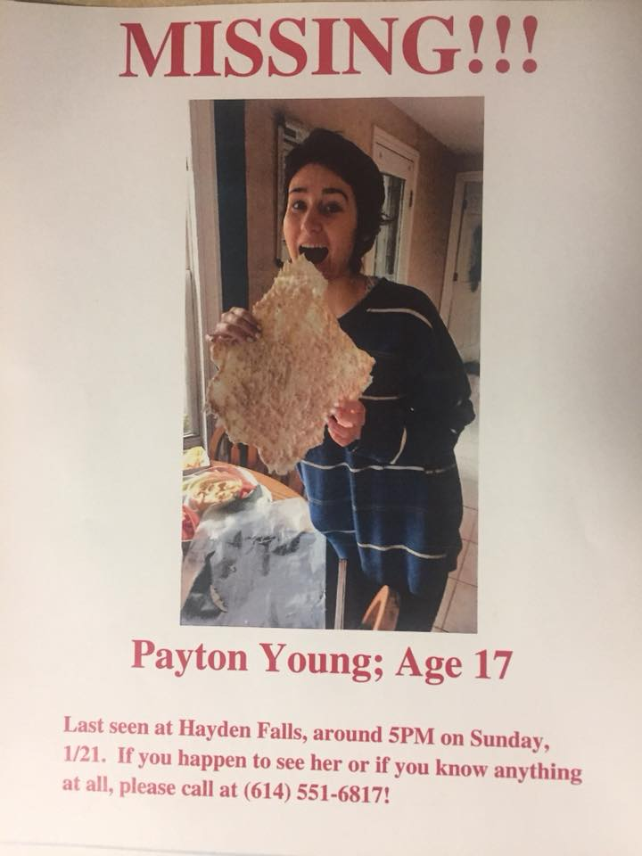 17-year-old Payton Young was last seen at Hayden Falls Park Sunday night January 21, 2018. (Courtesy: Premier at Sawmill Athletic Club)<p></p>