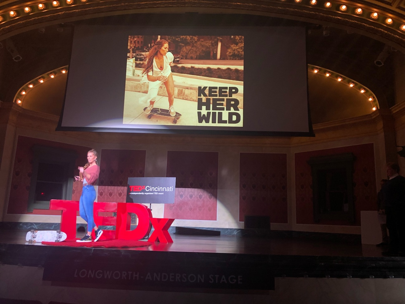 What started in an empty parking lot in 2018 and was later shared at a TEDx Talk at Memorial Hall in 2019 has transformed into KEEP Her Wild, a female skate collective. Founder Megs Gelfgot, who's originally from Tuscon, Arizona, landed in Cincinnati by way of her husband in 2011. Her CV includes law enforcement, fitness trainer, digital content creator, wife, mom, dog mom, and ollie executor. / Image courtesy of KEEP Her Wild // Published: 3.3.21