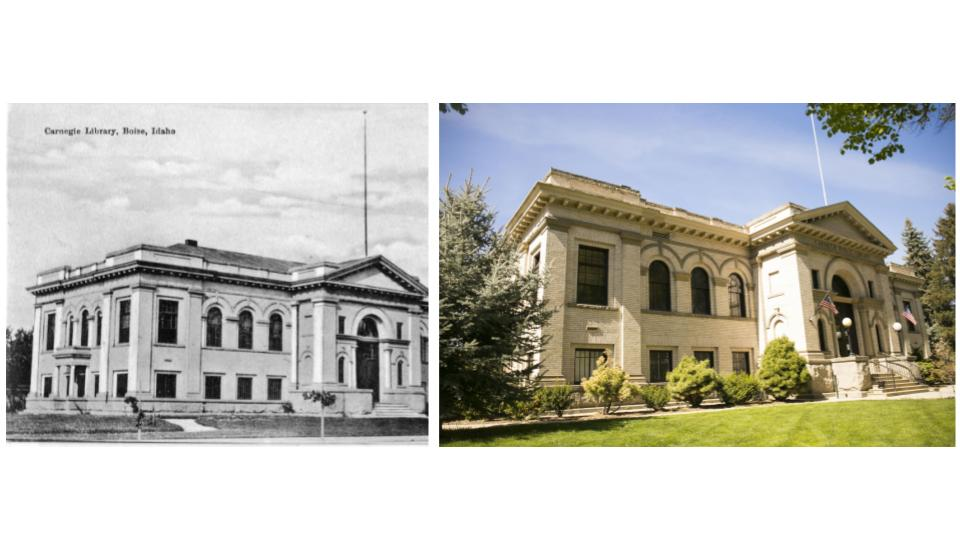 The Carnegie Library in Boise was finished in 1905 and is now used as office space.{ } (Kristen McPeek and Idaho Historical Society)