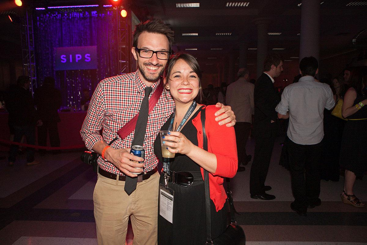 Hanna and Keith party the night in McCaw Hall at the SIFF Opening Night Gala. (Image: Joshua Lewis / Seattle Refined)