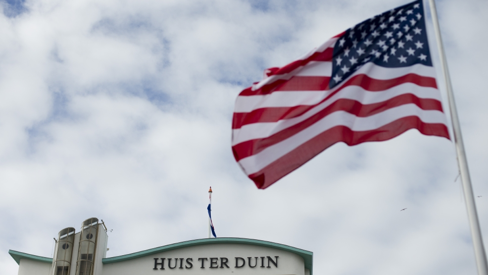 "The U.S. flag flies outside Hotel Huis ter Duin, the hotel where President Barack Obama stayed Monday night, in Noordwijk, western Netherlands, Wednesday March 26, 2014. A Secret Service agent found drunk by staff at an undisclosed Dutch hotel was recalled to the U.S. along with two of his colleagues, the day before President Barack Obama was set to arrive in the Netherlands. The Secret Service said the three agents were benched on Sunday for ""disciplinary reasons"" but declined to elaborate. U.S. newspaper The Washington Post reported that the incident happened at Hotel Huis ter Duin but the hotel denies that any such incident happened at the hotel. (AP Photo/Peter Dejong)"
