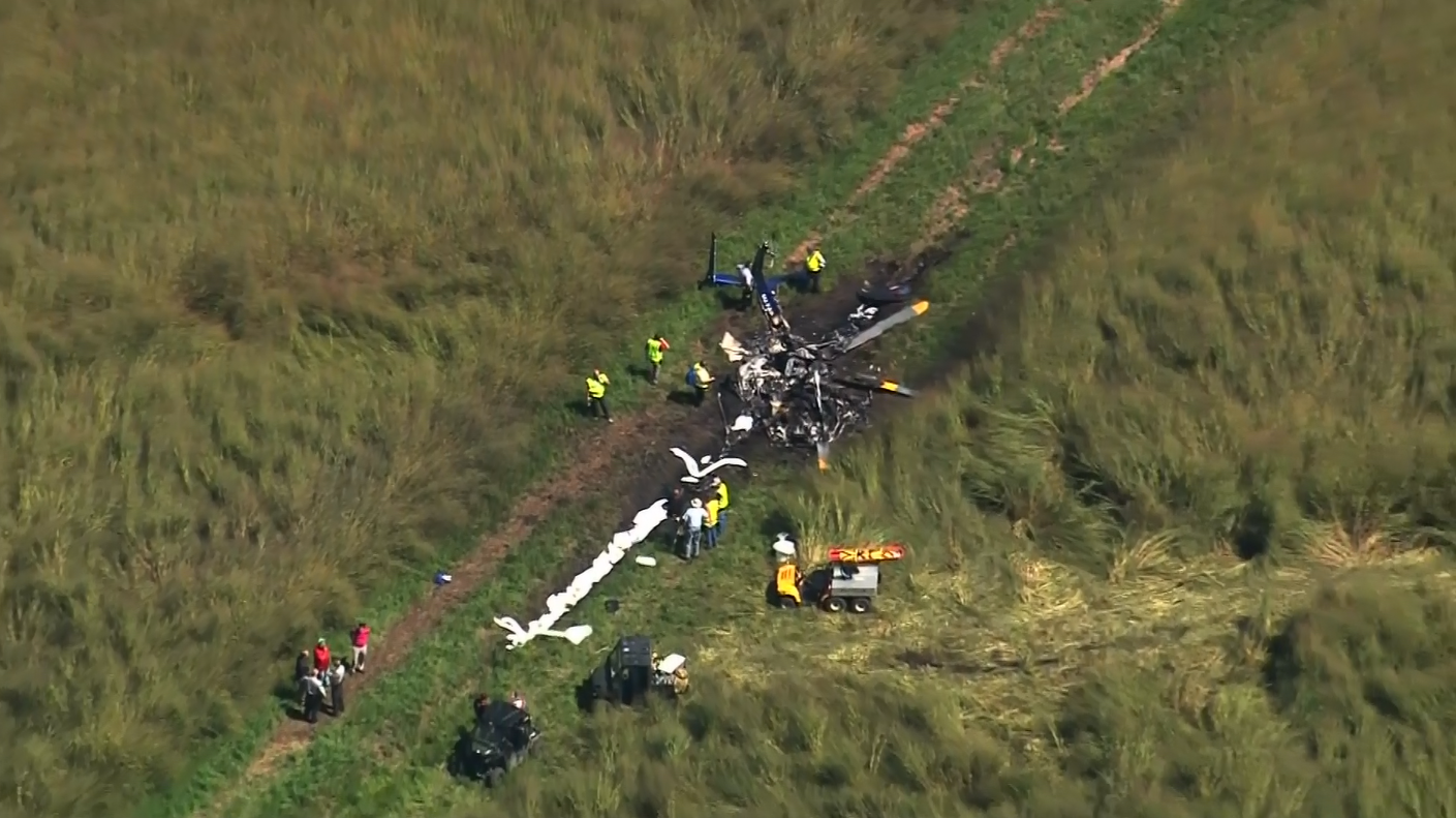 A Duke Life Flight helicopter went down around 11:45 a.m. Friday near the town of Belvidere, close to the Virginia border and about 160 miles (260 kilometers) east of Raleigh (Photo: CNN Newsource)