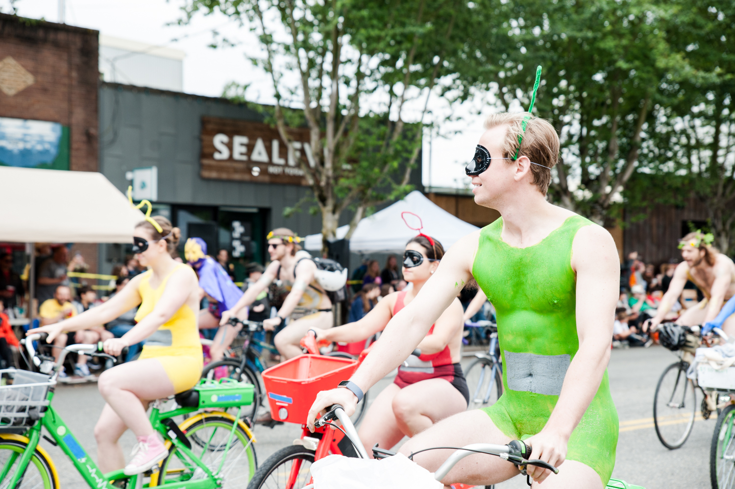 "2019 Fremont Solstice Parade. Today we're celebrating what would have been the 2020 Fremont Solstice Parade with a look back at parades past and remembering how downright wild and wacky they are. We know you're missing that creative release Seattle - we are too! The Fremont Artist Council is{&nbsp;}<a  href=""https://fremontartscouncil.org/parade/"" target=""_blank"" title=""https://fremontartscouncil.org/parade/"">having a Virtual Parade</a>{&nbsp;}and heck, no judgment from us if you want to watch it naked or with body paint on. See you next year… (Image: Elizabeth Crook / Seattle Refined)"