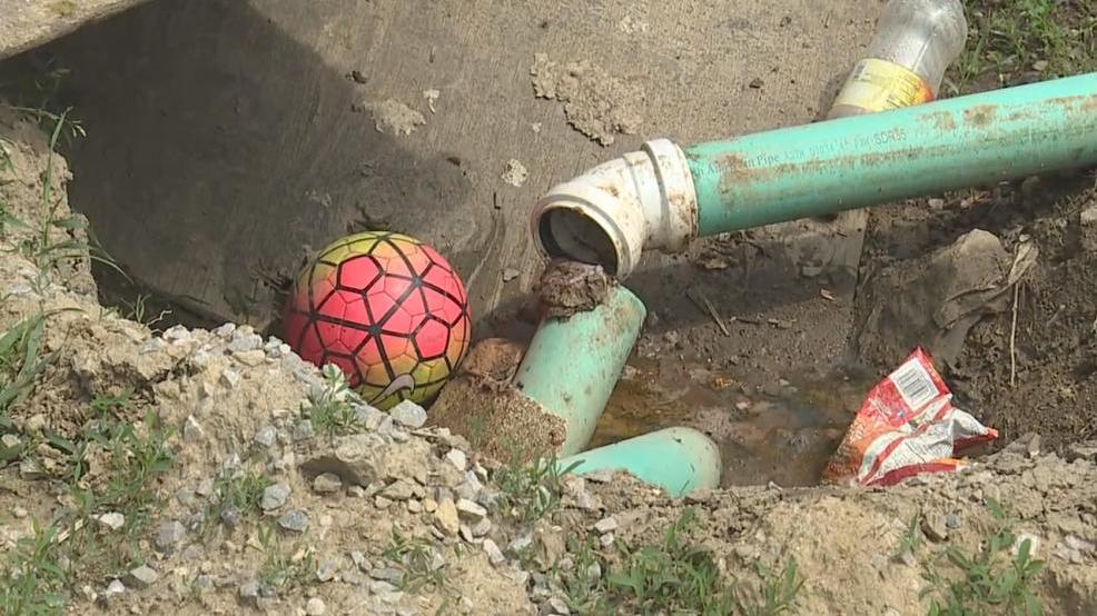 Raw sewage emptying to backyard in marion landlord under for Raw sewage under house