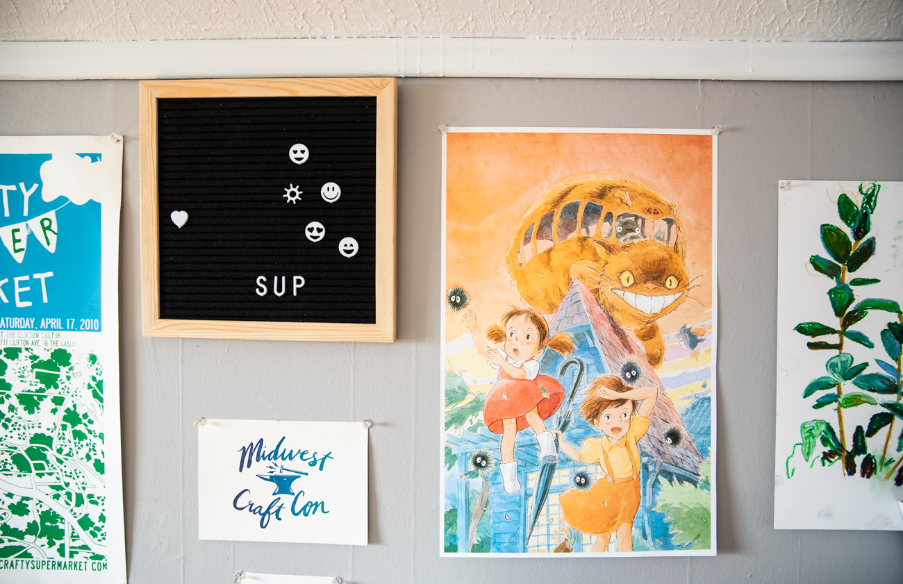 <p>Laura's home studio is filled with art, knickknacks, and nostalgic mementos. / Image: Melissa Sliney // Published: 3.26.20</p><br><p></p>