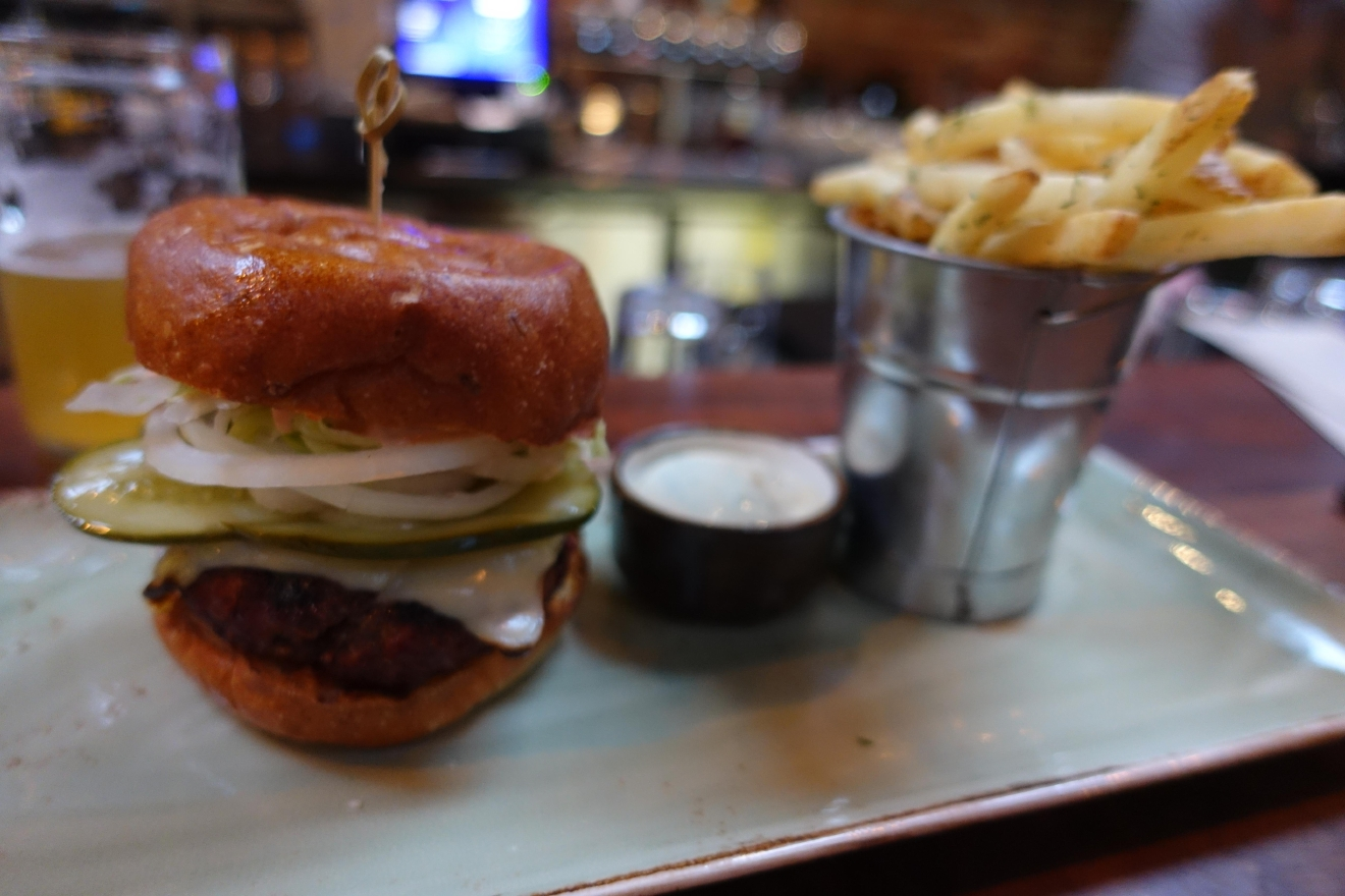 The Bramling Cross burger. (Image: Frank Guanco)