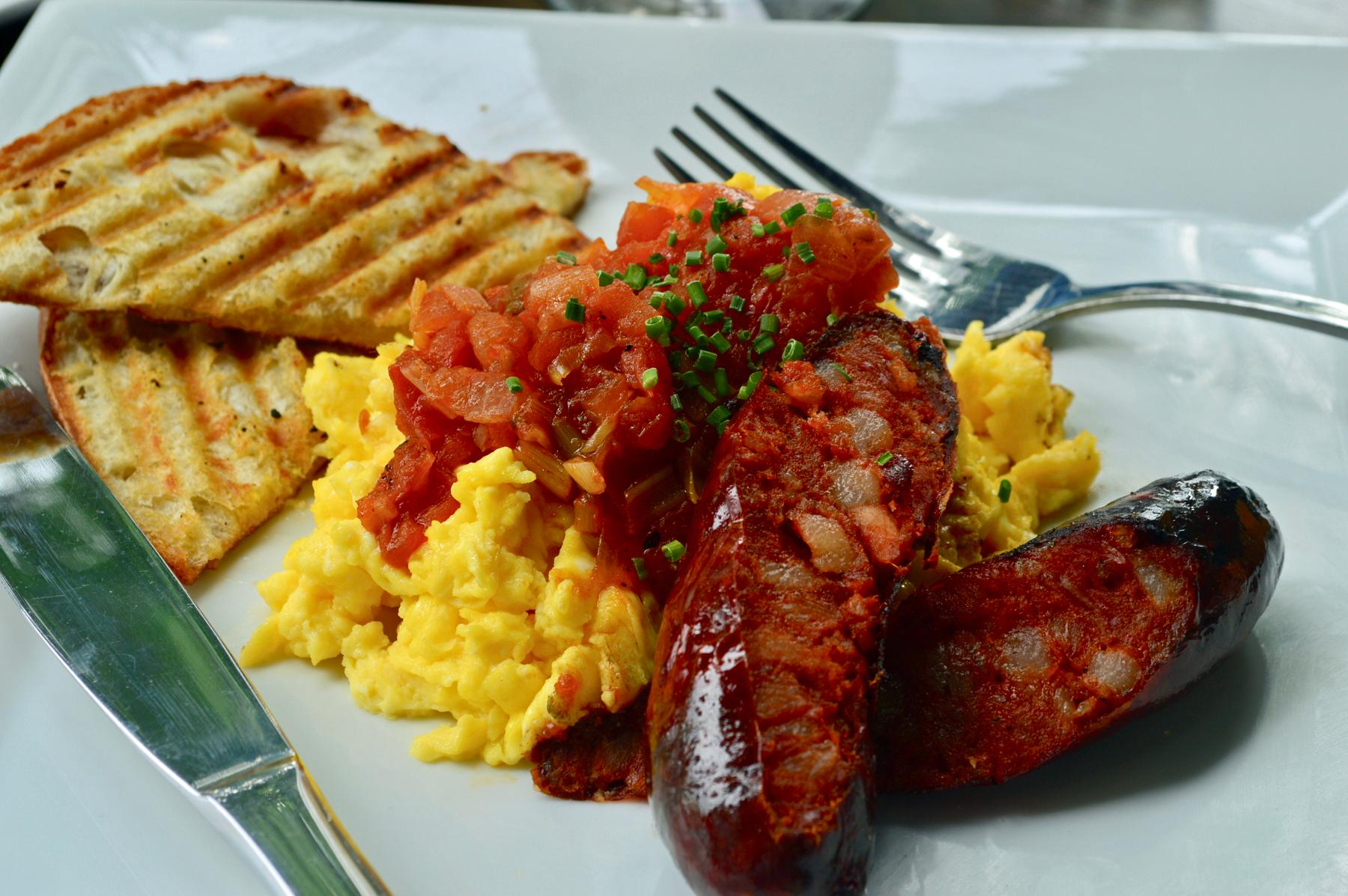 Huevos pericos are part of the new brunch menu at Little Havana. (IImage:{ } Little Havana)