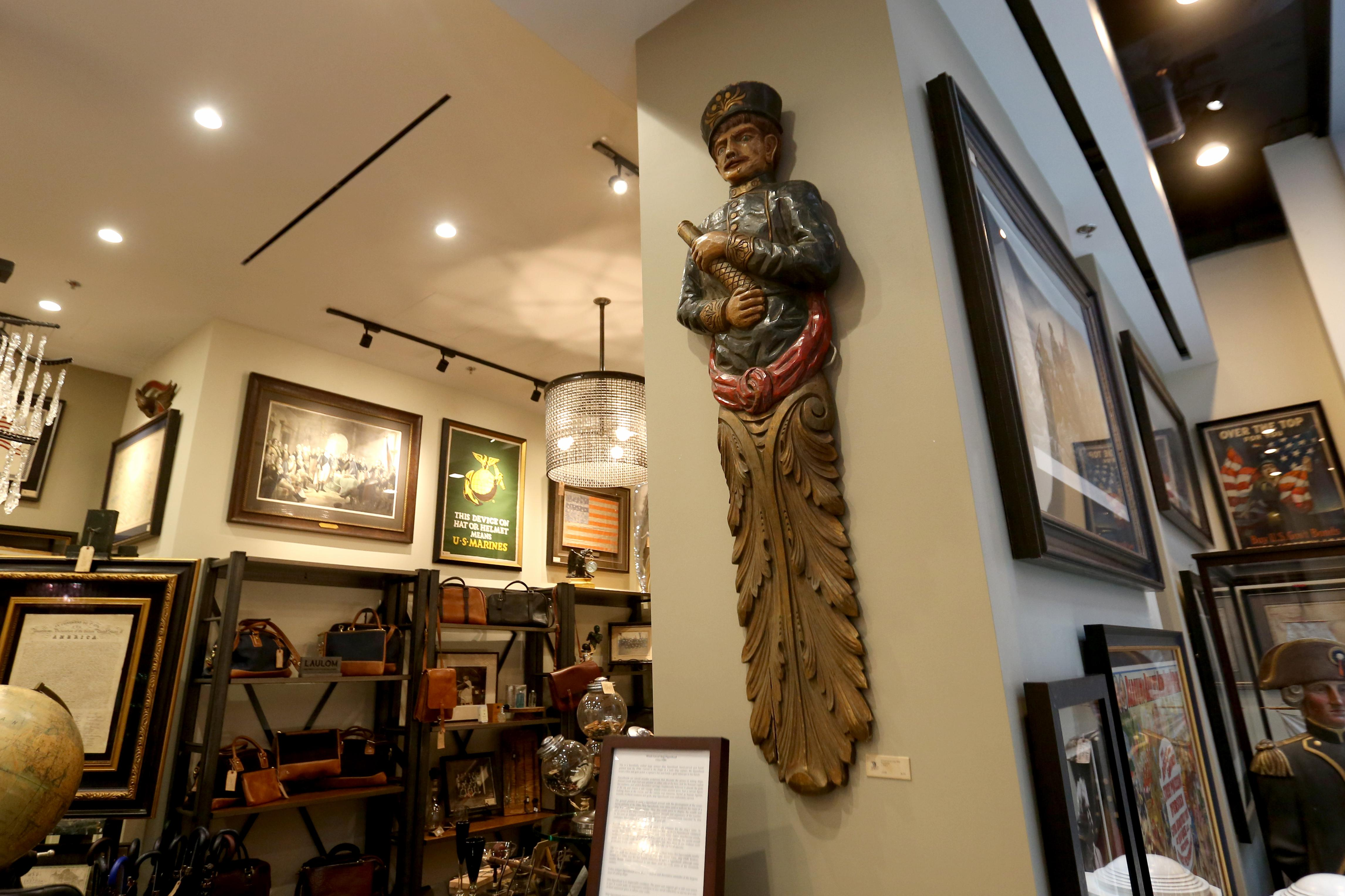 1930s ship figurehead -  $8,250 available at The Great Republic. (Amanda Andrade-Rhoades/DC Refined)