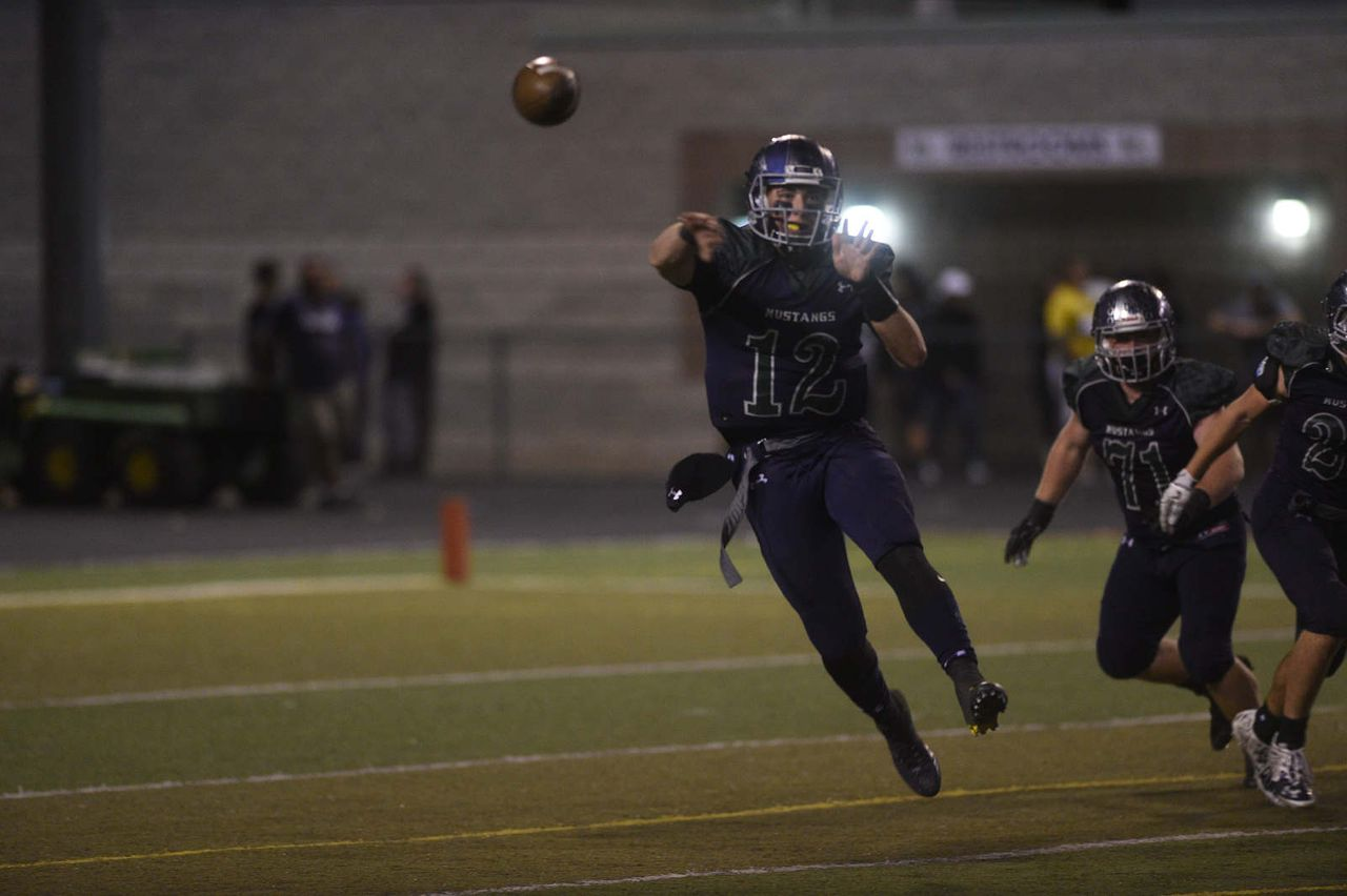 Cade McNamara throws a pass for Damonte Ranch. (Provided by the McNamara family)