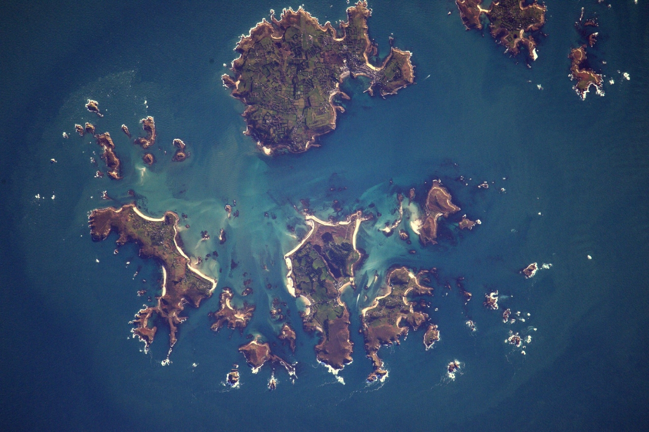 Isles of Scilly near Cornwall (Photo & Caption: Thomas Pesquet // NASA)