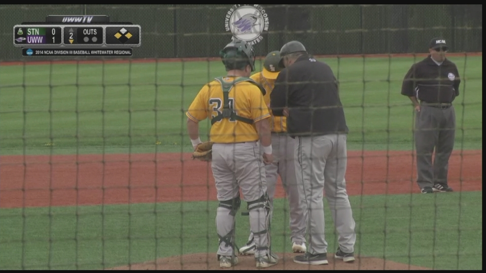 St. Norbert college baseball playing UW-Whitewater in the first round of the DIII NCAA tournament